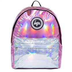 Hype Hologrphc Mix Backpack - Pink & Silver