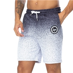 Hype Speckle Fade Walkshorts - Black & White