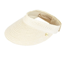 Seafolly Roll Up Visor - White