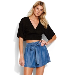 Seafolly Chambray Shorts - Blue