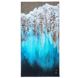 Slowtide Painted Sand Towel  - Blue
