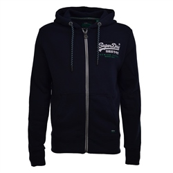 Superdry Prem Race Hoody - Navy