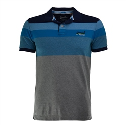 Superdry Miami Polo-Shirt - Navy & Blue