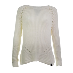 Superdry Bella Lace Jumper - White