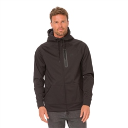 Animal Visser Hooded Zipped Fleece - Black