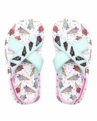 Animal Daisie Flip Flops - White