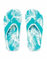 Animal Swish AOP Flip Flops - Blue
