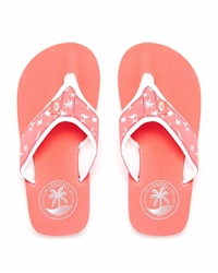Animal Swish Upper AOP Flip Flops - Orange