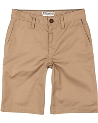 Billabong Boys Carter Walkshorts - Dark Khaki