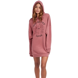 Billabong Pretty Relax Hooded Dress - Plum