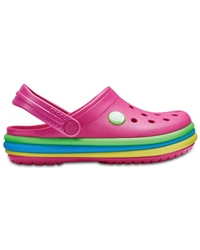 Crocs Rainbow Band Clogs - Pink