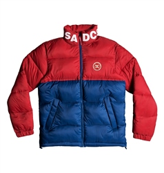 DC Shoes Gosforth Puffer Jacket - Blue & Red