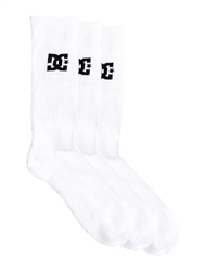 DC Shoes SPP 3 Pack Socks - White