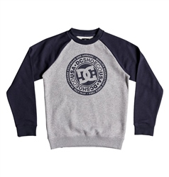 DC Shoes Circle Star Sweatshirt - Black & Grey