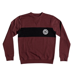 DC Shoes Rebel Block Sweatshirt - Cabernet