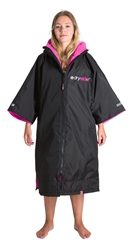 Dryrobe Short Sleeved DryRobe Extra Small  - Black & Pink