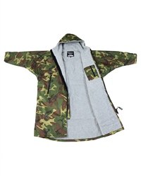 Dryrobe Medium Long Sleeved  - Camo & Grey