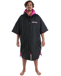 Dryrobe Medium Short Sleeved  - Black & Pink