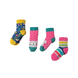 Frugi Little 3 Pack Socks - Rainbow