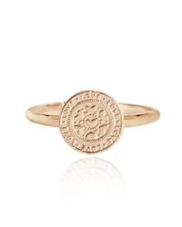 Joma Jewellery Coin Love Ring - Rose Gold