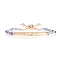 Joma Jewellery Stns Friendship Bracelet - Yellow Gold