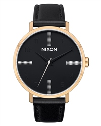 Nixon Arrow Leather 4 Watch - Gold, Black & Silver