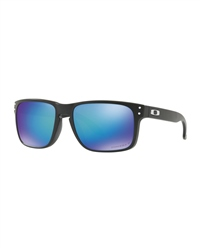 Oakley Holbrook Polarised Sunglasses - Matte Black & Blue