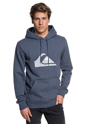 Quiksilver Big Logo Hoody - Navy Blazer Heather