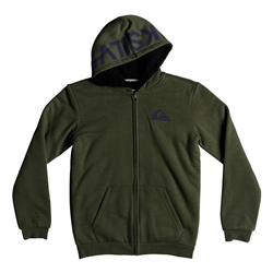 Quiksilver Best Wave Fur Hoody - Leaf