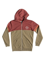 Quiksilver Kumano Hooded Zipped Fleece - Barn Red