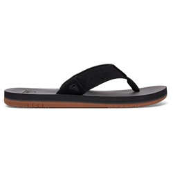 Quiksilver Coastal II Flip Flops - Black & Brown
