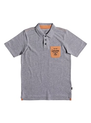 Quiksilver Puaku Polo Shirt - Light Grey Heather
