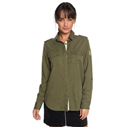 Roxy Military Shirt - Olive