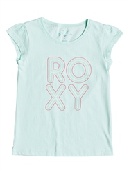 Roxy Bubble Typo T-Shirt - Blue
