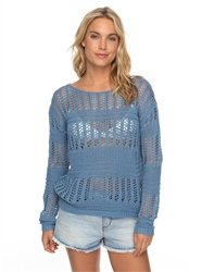 Roxy Blush Seaview Jumper - Blue Shadow