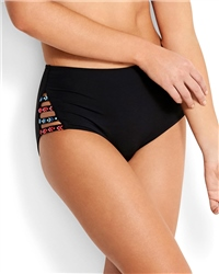 Seafolly Desert T High Bikini Bottoms - Black