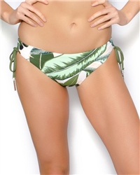 Seafolly Palm Beach Tie Hipster Bikini Bottoms - Moss
