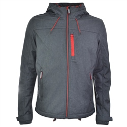 Superdry Windtrekker Jacket - Graphite & Red