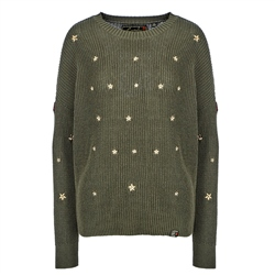 Superdry Star Cascade Jumper - Olive