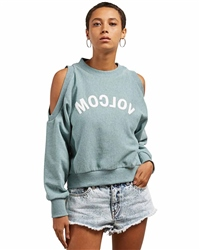 Volcom Edit N Crop Sweatshirt - Aqua