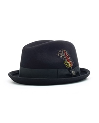 Brixton Gain Fedora Hat - Black