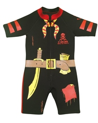 C-Skins Baby 3/2mm Shorty Wetsuit - Pirate (2018)