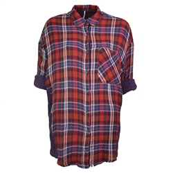 Free People 1 Of The Guys Shirt - Red