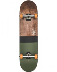 Globe Half Dip 2 Skateboard - Dark Maple & Hunter Green