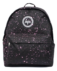 Hype Speckle Backpack - Black & Pink