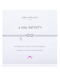 Joma Jewellery Leather Infinity Bracelet - Silver