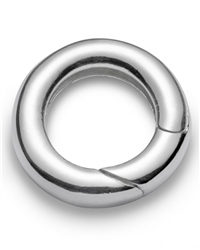 Nalu Beads Silver Circle Clasp - Silver