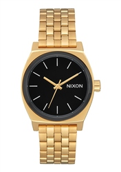 Nixon Med Time Teller 2 Watch - Gold & Black