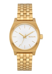 Nixon Med Time Teller 2 Watch - Gold & White