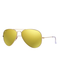 Ray-Ban Aviator Large Metal - Matte Gold / Brown Mirror Gold